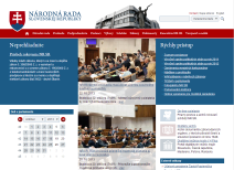 official website of the National Council of the Slovak Republic, which includes, inter alia, the latest adopted laws and monitoring the legislative process of their adoption
